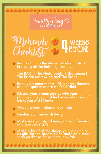 Wedding Planning 101 - The Ultimate Indian Mehndi checklist