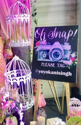 Amazing Indian wedding hashtag ideas from real weddings   How to make a wedding hashtag   YoYoKani Singh Wedding  