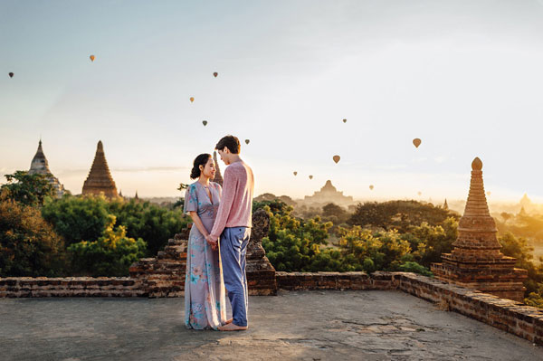 Indian wedding abroad | International destination wedding venues on a budget , Indian wedding destination abroad | Burma pre wedding shoot by Ann Kathryn Koch