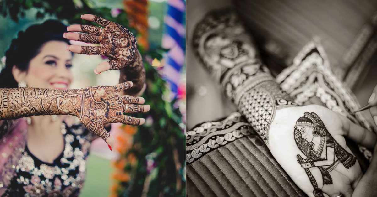 Bridal Mehndi ideas | new way to write the groom's name on the bride's hand | Groom's name on bride's ring finger in mehendi | New trending Mehndi design | Photo by - More Images