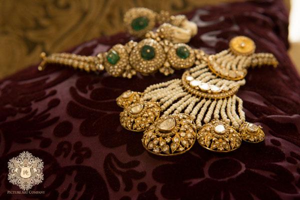 Ridhi metre's polka jewellery from the wedding