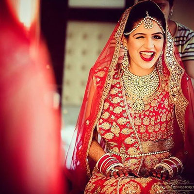 Indian Bride | Wedding Lehenga | Bridal Lehenga | Red Lehenga | wedding Dress | Photography by Wedding Story | Dress Test