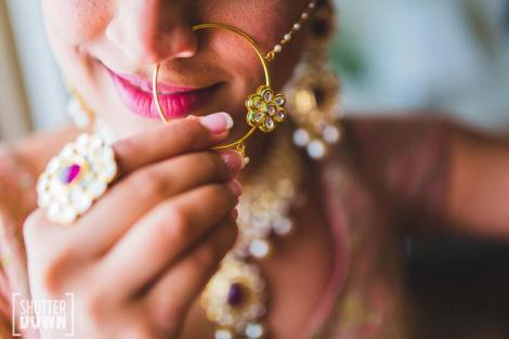 Bridal nose ring ideas | Indian Bridal Jewellery- Nath | Indian brides | naths | instagram |stunning brides | Indian wedding inspiration | by wittyvows | shutterdown photography