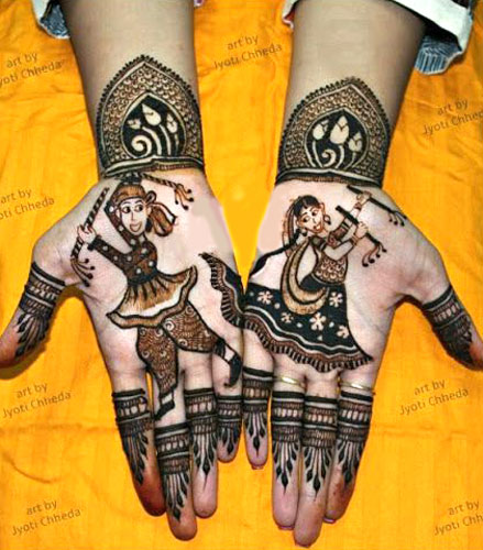 bridal mehndi design | Mehndi idea | Henna designs | Henna story with couple's love story | Navratra mehndi | Jyoti Chedda