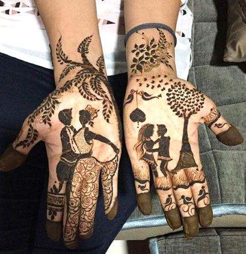 Love Story Henna The Trending New Bridal Mehndi Design Idea You Ll