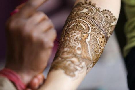 bridal Mehndi design with Ganesh ji in design