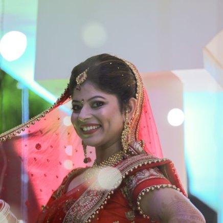 Divya & Nikhil | Jabal Pur small town wedding | high school sweethearts | red and gold lehenga Lajpat Nagar