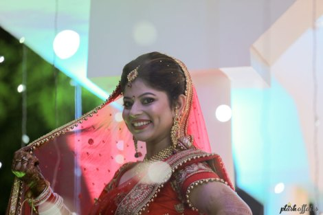 Divya & Nikhil | Jabal Pur small town wedding | high school sweethearts | red and gold lehenga Lajpat Nagar