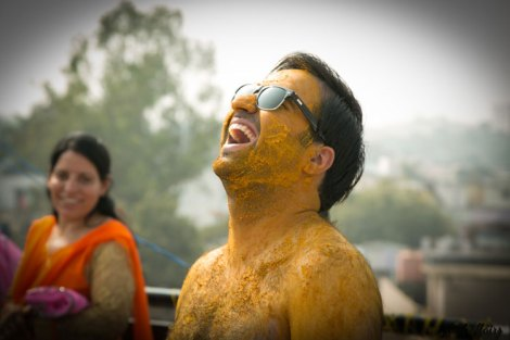 Indian groom happy at his haldi | sunglasses and haldi