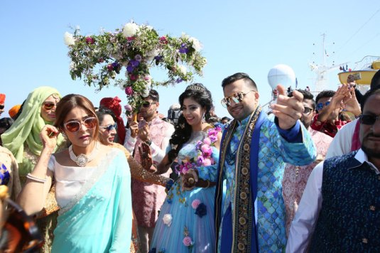 Adel-and-Sana-Day-wedding-dance-on-the-cruise