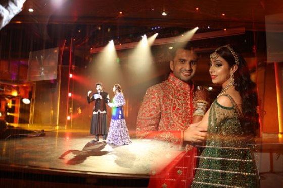 Adel-and-Sana-projection-sangeet