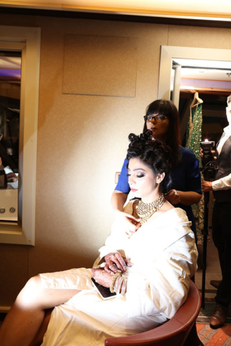 Sana-Indian-bride-getting-ready-on-a-cruise