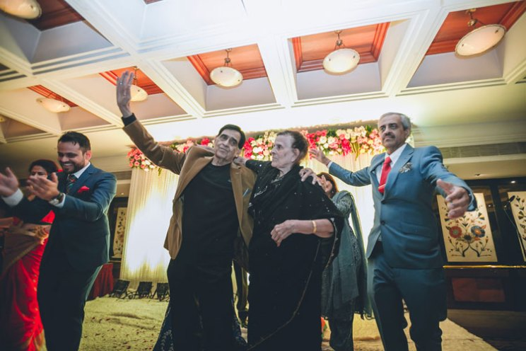 Indian Biker Bride | Rishad And Priyanka | Parents and grandparents dancing at an Indian Wedding