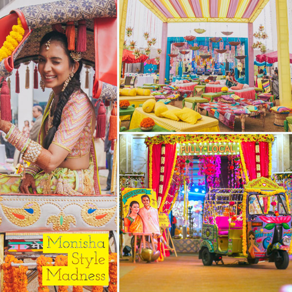 Sarabhai vs Sarabhai   Sarabhai season 2   Monisha sarabhai style wedding.   kitsch mehndi decor   street food style wedding colourful Indian wedding