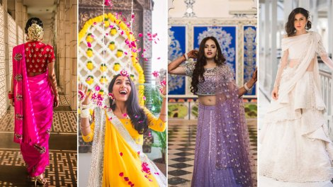 indian wedding trends form these top indian fashion bloggers weddings. | Massom minawala wedding | SHreya Kalra engagement | Aayushi Bangur wedding | sherry Shroff wedding