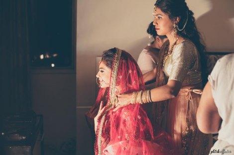 JyotPriya and Nishant | Punjabi wedding in Delhi | The bride getting ready for her big day.