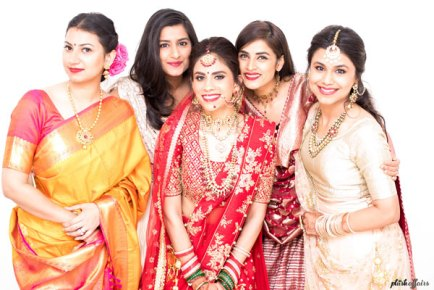 JyotPriya and Nishant | Punjabi wedding in Delhi | The perfect family picture of the bride.