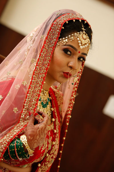 Apoorva and Arjun | Stunning wedding | Kanpur wedding | The perfect bridal pout.