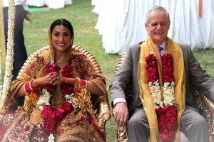 Samiksha and Tony | NRI couple | Lutyens Delhi wedding | The beautiful NRI couple sharing a smile.