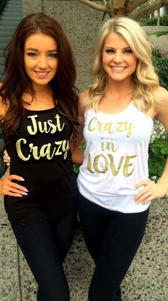 Indian bachelorette party ideas | Bachelorette T shirt ideas | crazy in love | just crazy