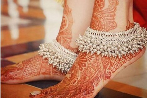 Heavy ghungroos silver anklet | Bridal Payal designs | Indian anklet