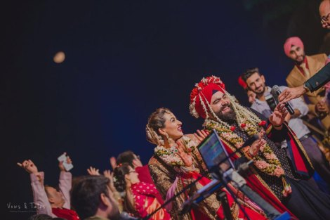 Bavleen and Kushal | Destination wedding in Goa | The couple dancing after the wedding rituals.