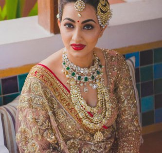 Bavleen and Kushal | Destination wedding in Goa | The beautiful bride in her perfect wedding look.