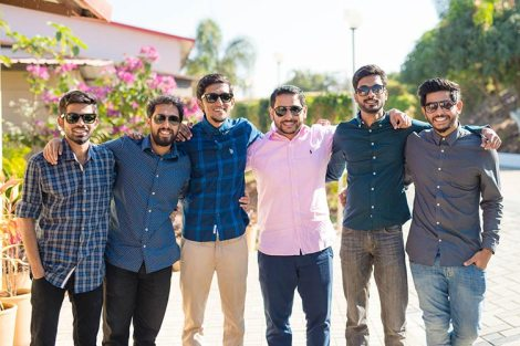 Joshua and Shona   Christian wedding   DIY ideas   The groom posing with his gang of friends.