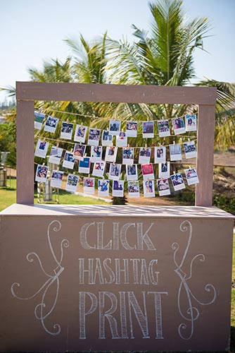 Joshua and Shona | Christian wedding | DIY ideas | The pretty hashtag printer with instant polaroid setup was so cute and beautiful.