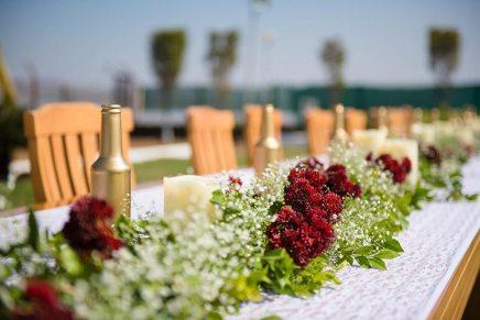 Joshua and Shona   Christian wedding   DIY ideas   The white and marsala flower decor is so beautiful.