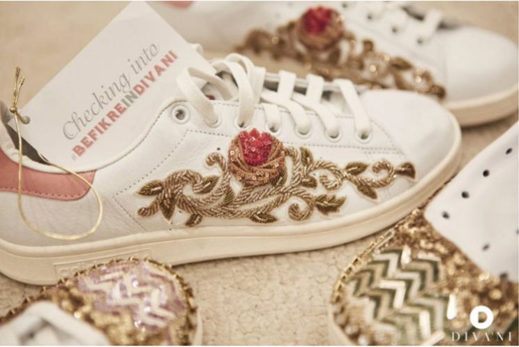Embroidered sneakers for every bride