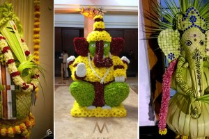 Stunning woven leaf thatch work Ganesh ji | South Indian decor | pooja decor ideas| Ganesh Chaturthi ideas | amazing Ganesh idols