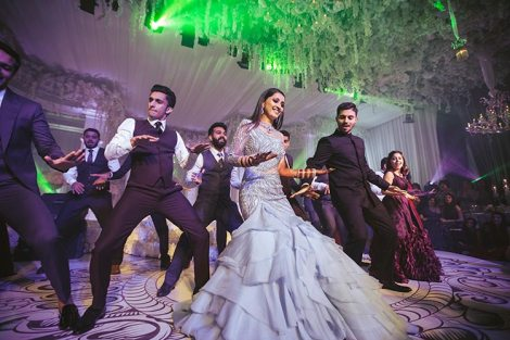 Sagar and Subiya | Destination wedding in Bali | The bride dancing to fun numbers and havng fun.
