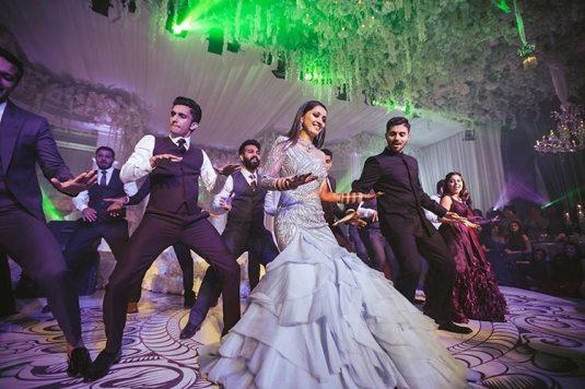 Sagar and Subiya   Destination wedding in Bali   The bride dancing to fun numbers and havng fun.