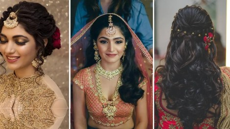 Indian bridal hairstyles, Bridal ghoonghat, indian wedding hairstyles | Pretty hair dos to try with a bridal ghoonghat