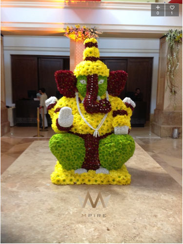 Cute floral Ganesh ji | South Indian decor | pooja decor ideas| Ganesh Chaturthi ideas | amazing Ganesh idols