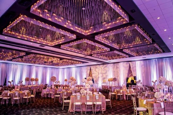 rain on your wedding day | Indoor ballroom wedding | Indian wedding in a ballroom | pretty ballroom wedding with ceiling lights