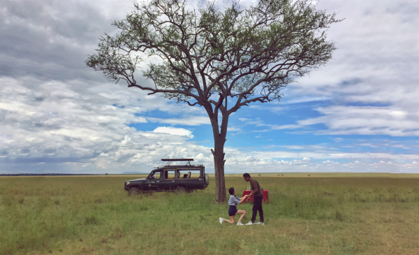 wedding proposal ideas, unique,roomantic, masai mara