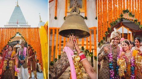 nimisha and Hemant | stunning temple wedding in Delhi NCR