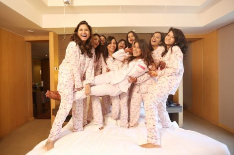 Fun pyjama party shoot| Get clicked with your BFF– Bridesmaid photo shoot Ideas WE LOVED!