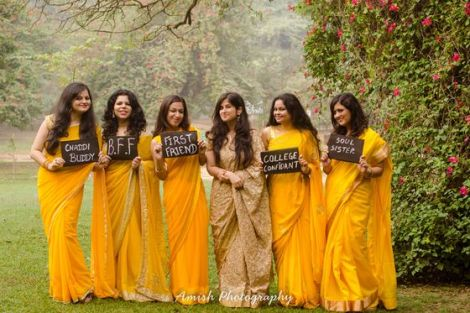 Colour coordinated bridesmaids| Create memories with your BFF– Bridesmaids photoshoot Ideas WE LOVED!