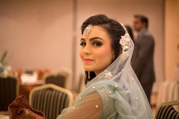 Blogger bride Humna's Pakistani wedding that was a DIY delight | pretty bride in a mint green outfit