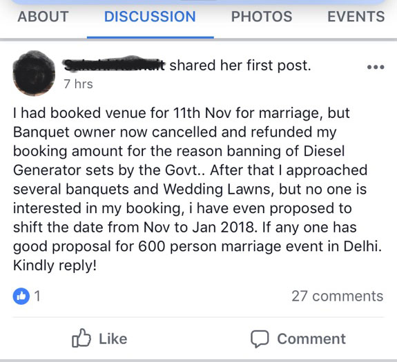 genes ban in delhi for farm weddings in delhi