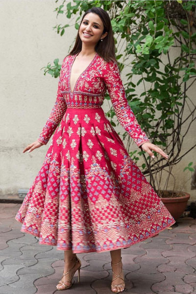 Parineeti Chopra in a beautiful Indian dress | Diwali look