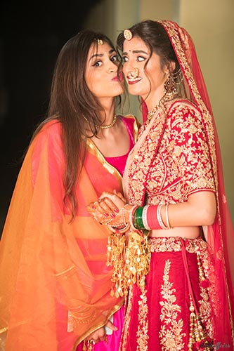 aditi and Rohan | Delhi weddng for a model bride | plush affairs photography | bride with her best friend