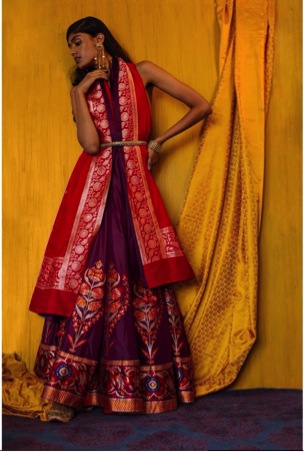stylish banarasi dress | Trending (since forever) & how: Different Ways to use those old school Benarasi clothes