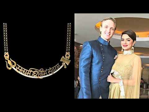 Aashka Goradia's customised mangalsutra | #2018 Wedding Trends in Making – 5 Different styles of flaunting that wedding accessory!