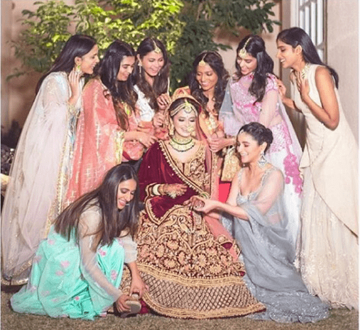 a must getting ready shot | Glamour, Girls and Goals – Trending & how #TheMehtaWedding in Jodhpur & its Bollywood Bridesmaid!