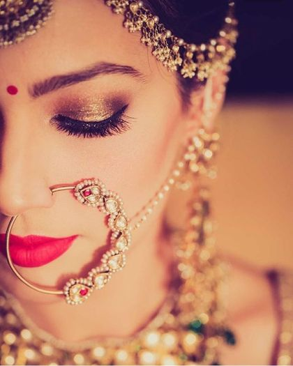Bridal Lip Colors | Bride in red lipstick| #TrendingAF – Best Bridal Lipstick Shades to be a pouty bride!