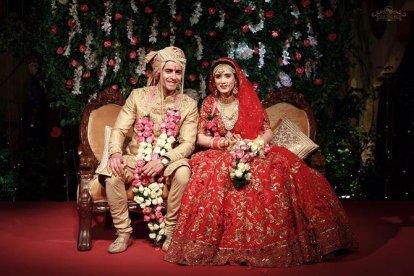 Couple at wedding | #CelebrityWedding - Gautam & Pankhuri's FORT-ful wedding in Alwar!
